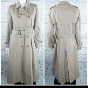 Burberry's Trench Coat Nova Check Lined Sz 14 XL